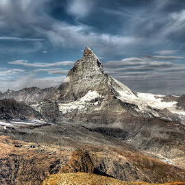 Matterhorn by Russ Quinlan - Landscapes Mountains & Hills ( hill, sky, europe, mountain, zermatt, switzerland, matterhorn, landscape )