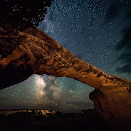 Natural Bridges Starscape by John Williams - Landscapes Starscapes ( natural bridges, milky way, night sky, astro photography, starscape )