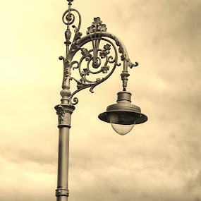 The Lights of Dublin by Judy Smith - Novices Only Street & Candid ( clouds, ireland, streetlight, dublin, storm )