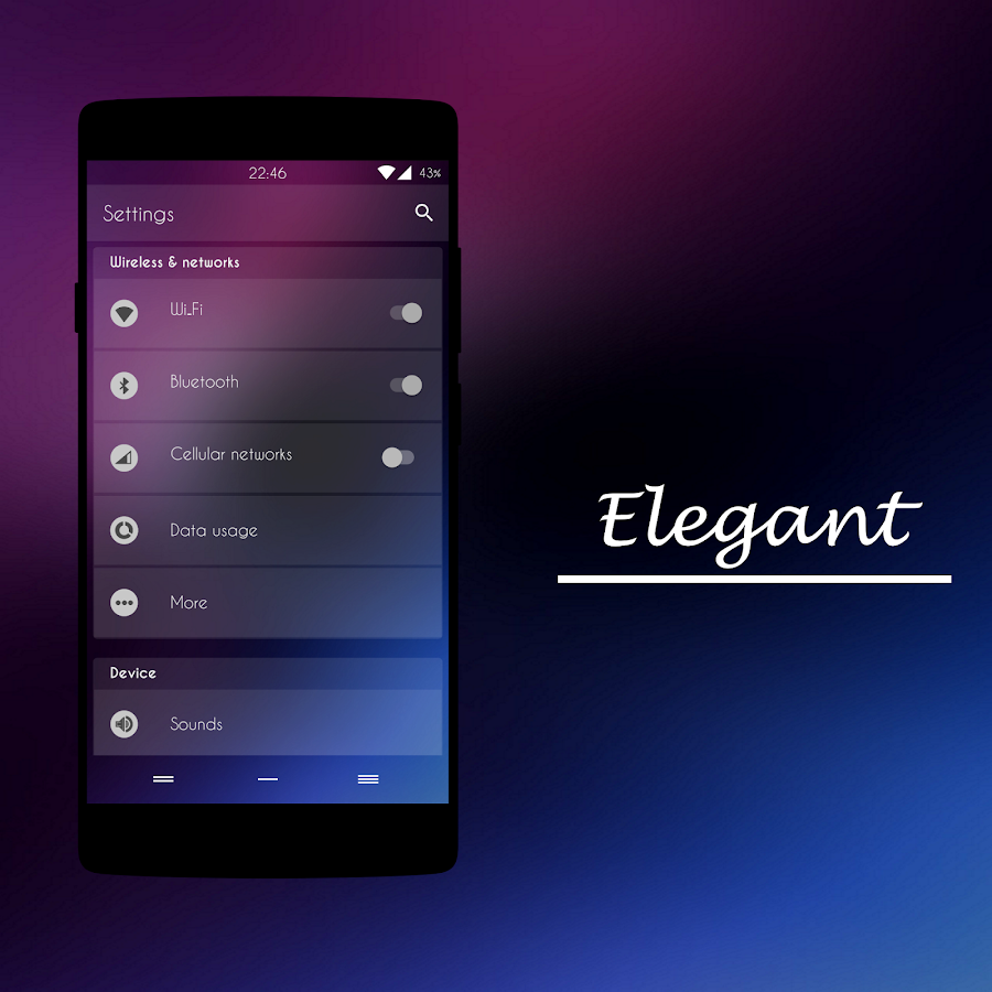 Elegant Blur - CM13/CM12 Theme Screenshot