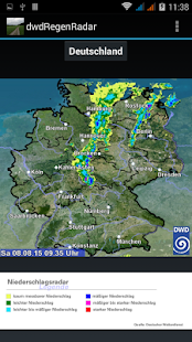 DWD Regen Radar Deutschland - screenshot