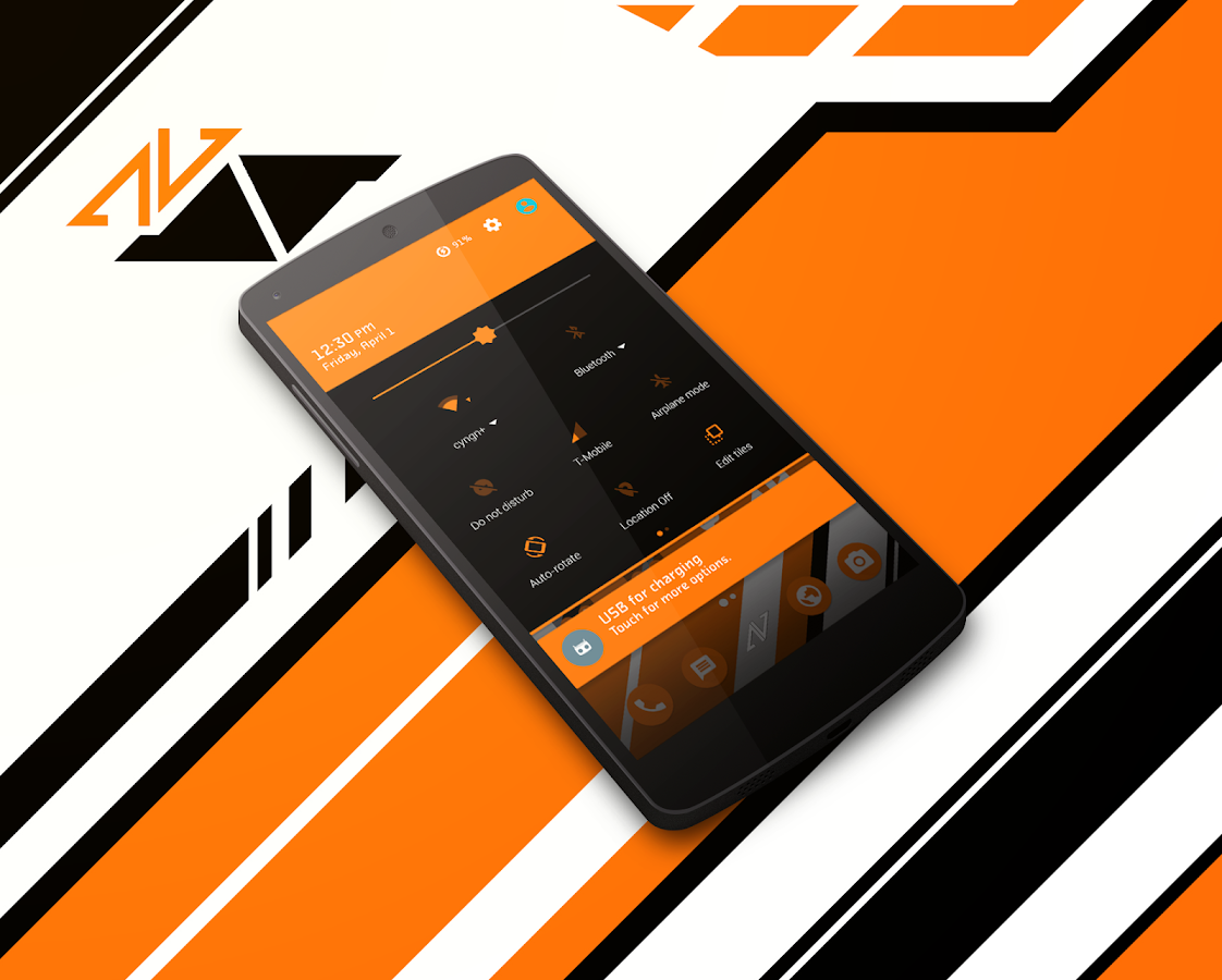 Asiimov CM13 CM12 Theme Screenshot 2