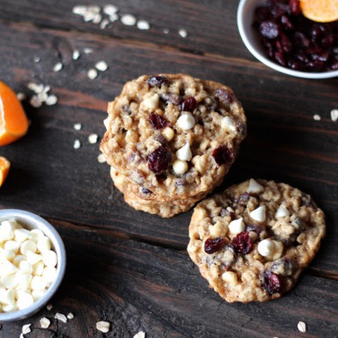 Cranberry Oatmeal Cookies with Orange