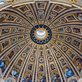 Bazilica San Pietro  by Nitescu Gabriel - Buildings & Architecture Architectural Detail ( europe, church, colors, beautiful, churches, dome, architectural detail, architecture, roof, european, spiritual, rome, color, architectural, spirituality, italy )