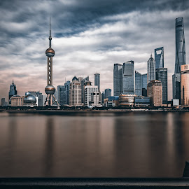Bund by Renke Bargmann - City,  Street & Park  Skylines ( skyline, huangpu, bund, pearltower, shanghai, china )