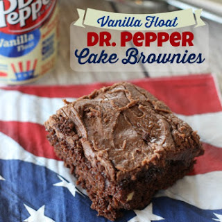Dr. Pepper Vanilla Float Cake Brownies