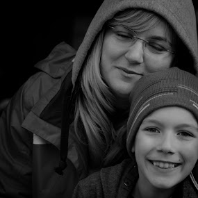Mother Emotions by Alexandru Bogdan Grigore - Black & White Portraits & People ( black and white, emotions, happiness, smile, portraits, feelings, eyes )