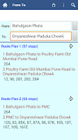 Screenshot of Pune Bus Info