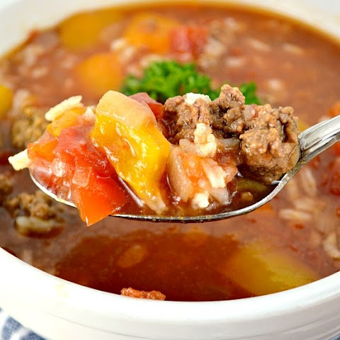 Crock Pot Stuffed Sweet Pepper Soup