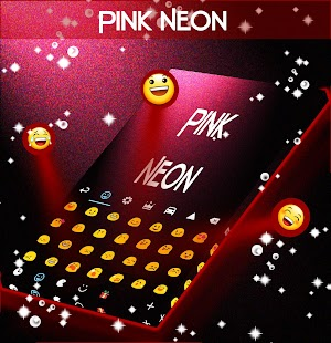 Pink Neon Keyboard Free - screenshot