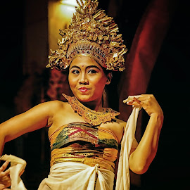 gadis Bali  by Agoes Santoso - People Musicians & Entertainers