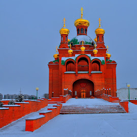 Annunciation Orthodox Cathedral by Tomasz Budziak - Buildings & Architecture Public & Historical ( church, siberian, winter, orthodox, architecture )