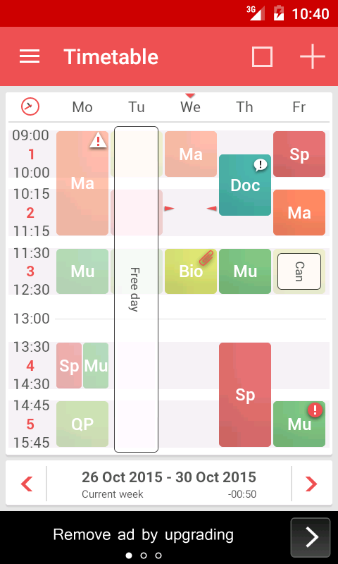 TimeTable++ Schedule Screenshot 0