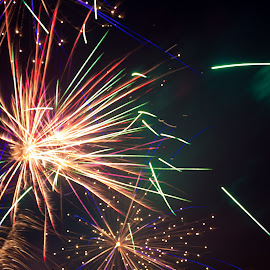 by Sarah Gropp - Abstract Fire & Fireworks
