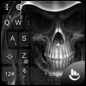Black Death Skull Keyboard Theme PC Download / Windows 7.8.10 / MAC