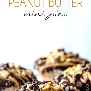 Almost No Bake Mini Chocolate Peanut Butter Pies