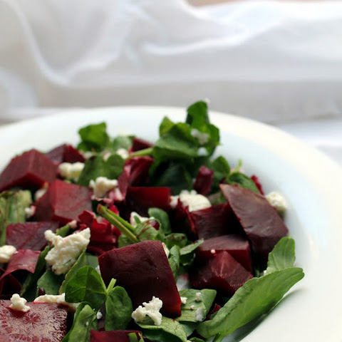 Beet and Goat Cheese Salad with Orange Balsamic Dressing