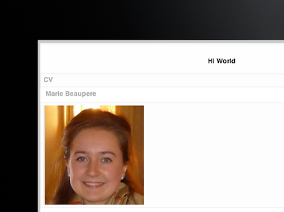 CV Marie Beaupere - screenshot