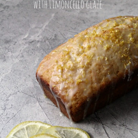 Tuscan Lemon Quick Bread with Limoncello Glaze