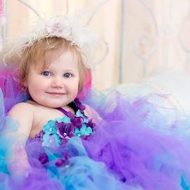 Allie by Paige Lyon - Babies & Children Child Portraits ( studio, child, princess, girl, tutu, purple, infant, pink, baby, toddler )