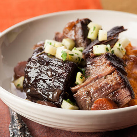 Red Wine–Braised Beef with Apple Gremolata