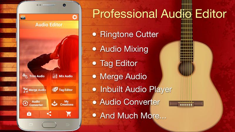 Audio MP3 Cutter Mix Converter and Ringtone Maker Screenshot 0