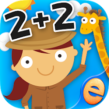 Animal Math Games for Kids 2+2