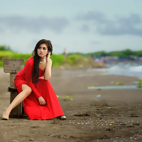 Red Contrast by Arrahman Asri - People Fashion ( angel, fashion, white, heave, beauty, people )
