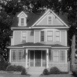 The Grand House by Nancy Bowen - Novices Only Street & Candid ( soft focus, black and white, house )