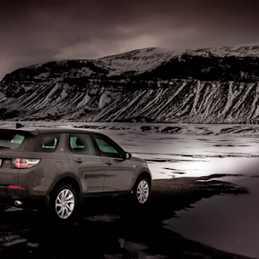 Snow Light by John Walton - Transportation Automobiles ( #snow, #heritagefocus, #discovery sport )