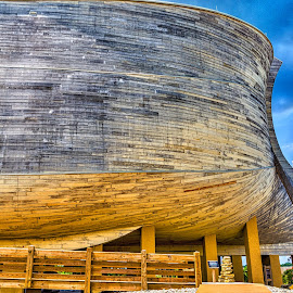 HDR Bow by Pat Lasley - City,  Street & Park  Amusement Parks ( amusement park, noah, ship, museum, noah's ark, boat, ark )
