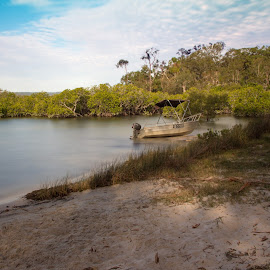 Tin Can Bay QLD, by Reinilda Sissons - Transportation Boats
