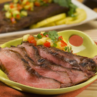 Teriyaki Flank Steak with Fresh Pineapple Salsa