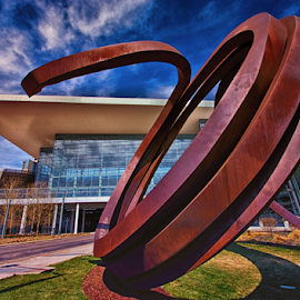 Colorado Convention Center by Brian Kerls - Buildings & Architecture Public & Historical ( curve, clouds, tourism, architectural detail, travel, cityscape, architecture, circle, business, curves, city, urban, sculpture, sky, wide angle, meeting, glass, architectural, perspective, lines, downtown )