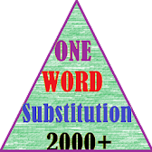ONE WORD SUBSTITUTION  {2000+} APK icon