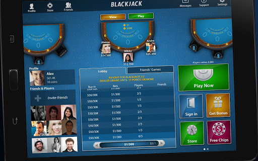 Blackjack 21 - Online Casino - screenshot