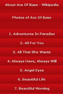 All Songs of Ace Of Base - screenshot