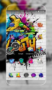 Graffiti Art Show Theme for Lollipop - Android 5.0
