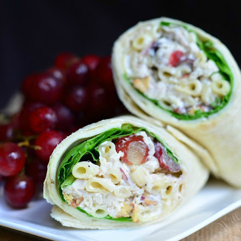 Chicken Deluxe Salad and Chicken Deluxe Wrap