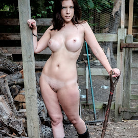 At the farm by Paul Phull - Nudes & Boudoir Artistic Nude ( farm, body, sexy, nude, wellington boots )