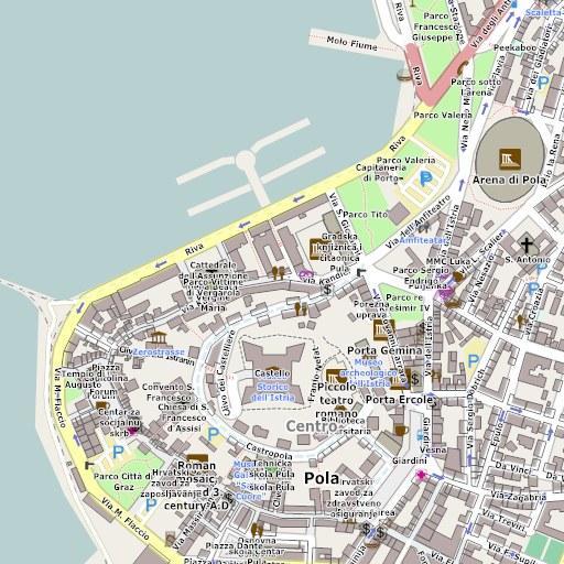 Android aplikacija Mappa di Pola in italiano na Android Srbija