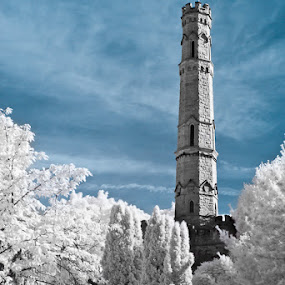 Battlefield Monument by Elvis Dorencec - Buildings & Architecture Statues & Monuments ( battlefield, pwclandmarks, infrared, stoney creek, monument )