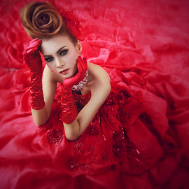beauty of red by Nur Sugianto - People Portraits of Women