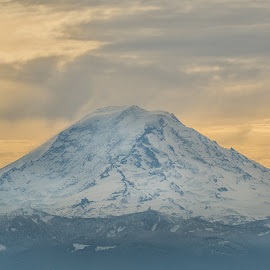 The Mountain by Jerry Cahill - Landscapes Mountains & Hills ( mountain, mt. rainier, eagles )