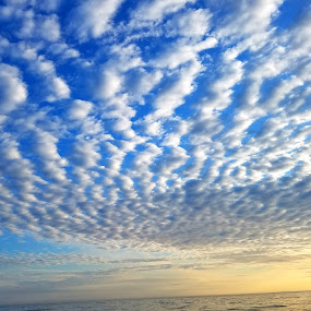 Clouds in the water too by Chris Gray - Landscapes Cloud Formations ( clouds, montauk, sunset, sea, ocean )