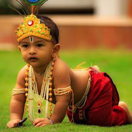 little Krishna by Girish Muchal - Babies & Children Children Candids ( krishna )