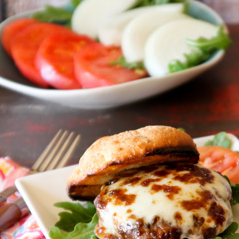 Fig and Smoked Mozzarella Burger for #BurgerMonth