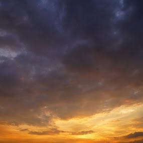 orange sunset by Dyaz Afryanto - Landscapes Sunsets & Sunrises