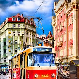 Old Tram by Ronald J - Transportation Trains ( hdr, rail, tram, photo, prague, city )