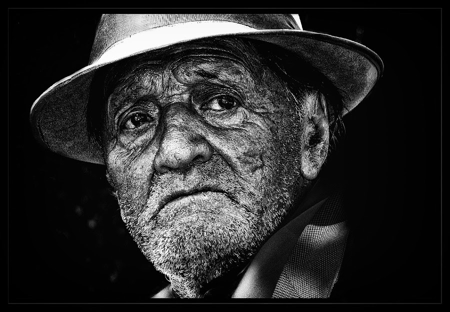 by Veronica Gafton - People Portraits of Men ( old, sad, people, man )